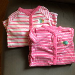 Bundle of 2 footless pajamas